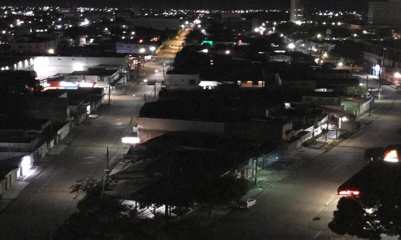 Cidade Vazia, noite de Sábado de Aleluia em tempo de pandemia (Foto: Viriato Moura)