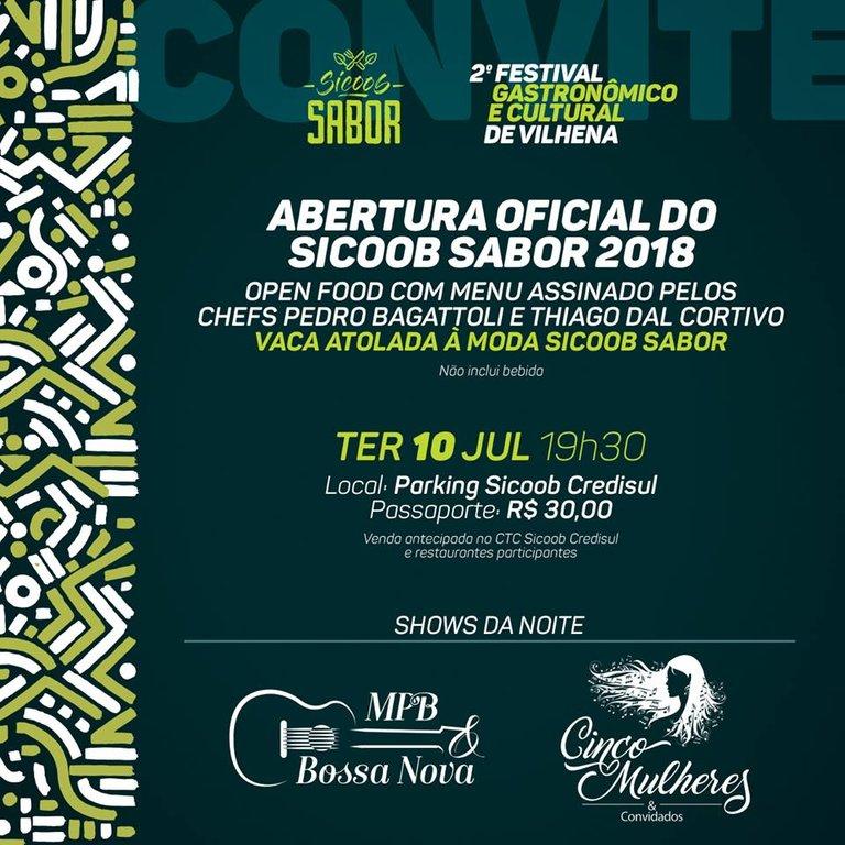 2º Sicoob Sabor será aberto amanhã, 10 de julho - Gente de Opinião