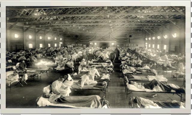 Imagens de soldados americanos do estado de Kansas, EUA, em 2018, vítimas da Gripe Espanhola. Foto: National Museum of Health - Gente de Opinião