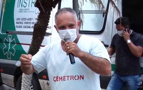 Servidores da saúde protestam em frente aos hospitais em Porto Velho