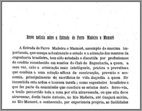 A Terceira Margem – Parte XCIV - Madeira-Mamoré ‒ Ferrovia do Diabo ‒ XV