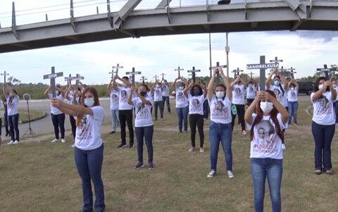 Ato silencioso lembra dos servidores da saúde mortos pela COVID-19 em Rondônia