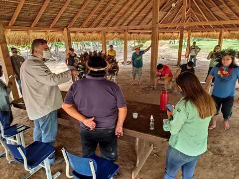 """Equipe técnica da Sedam visita aldeias indígenas; projeto """"Café Tribus"""" é apresentado"""