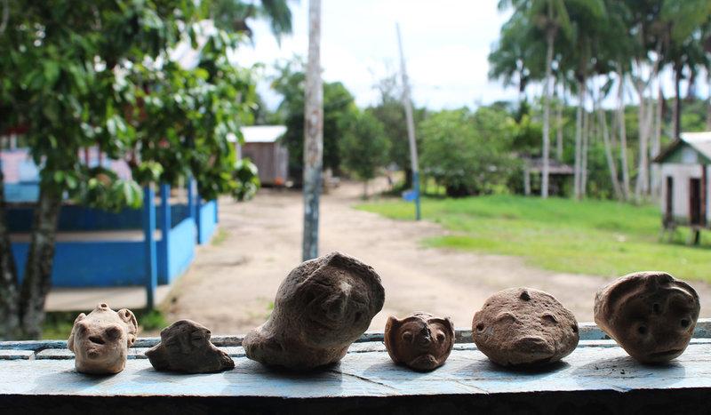 Vestígios arqueológicos fazem parte do cotidiano das comunidades ribeirinhas (Foto: Maurício Silva)