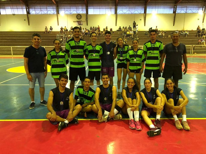 Uni/Nativa vice-campeã no voleibol misto