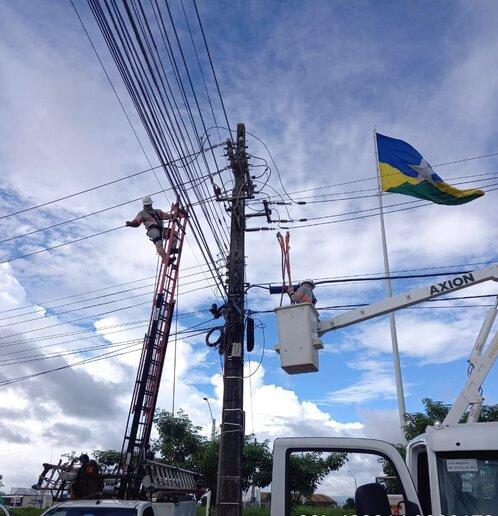 Manutenção da rede em Rondônia