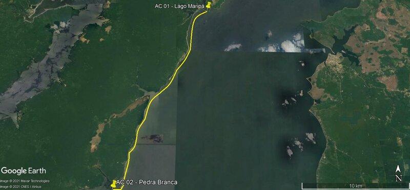 2° Lance (Lago Maripá - Enseada Pedras Brancas)