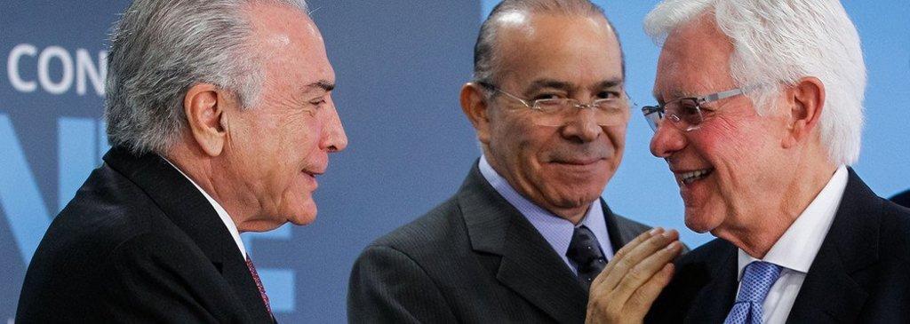 Propinas para Temer, Padilha, Yunes e Moreira Franco saíram dos aeroportos - Gente de Opinião