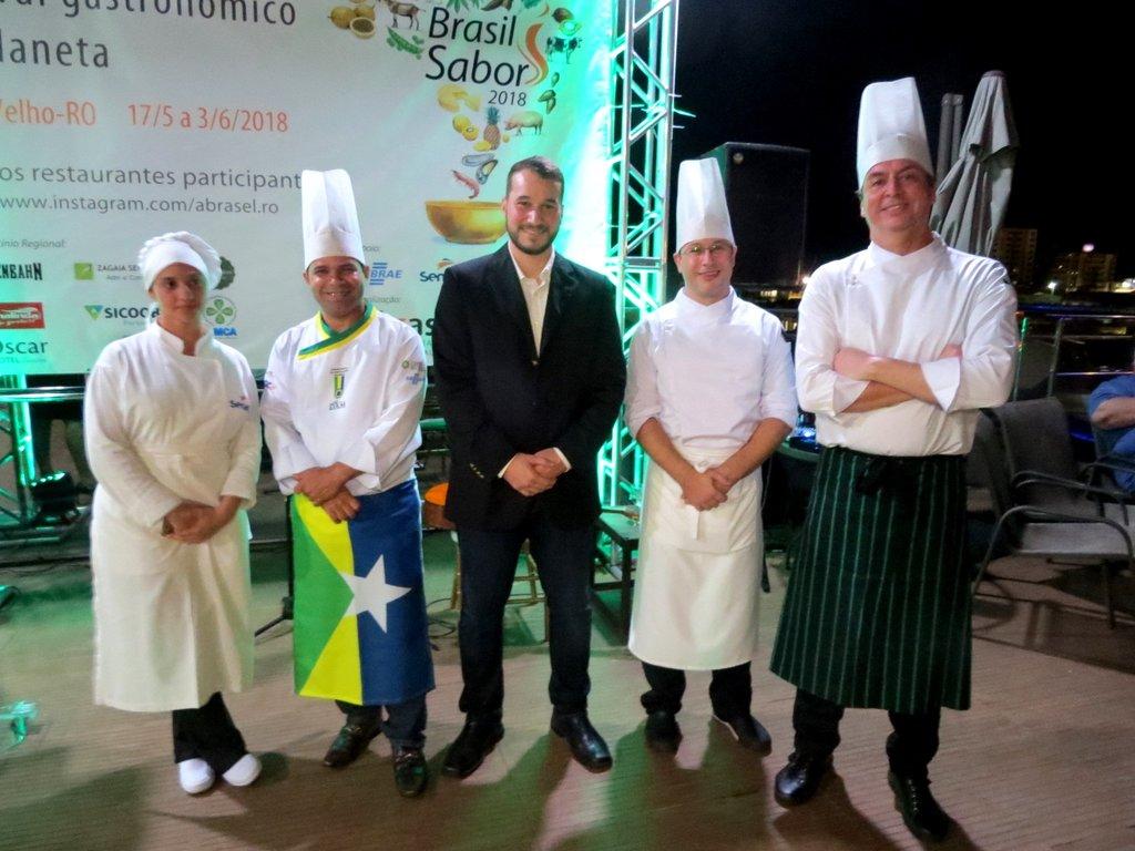 Chefes que desenvolveram os pratos para o Festival - Gente de Opinião