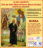 Dia de São Maximiliano Kolbe terá missa em Porto Velho
