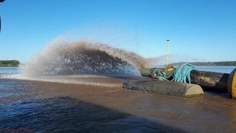 Mais de 940 mil m³ foram dragados do rio Madeira em 2018