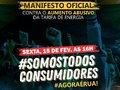 Manifesto contra o aumento da energia elétrica em Rondônia acontece nesta sexta-feira em todo o estado