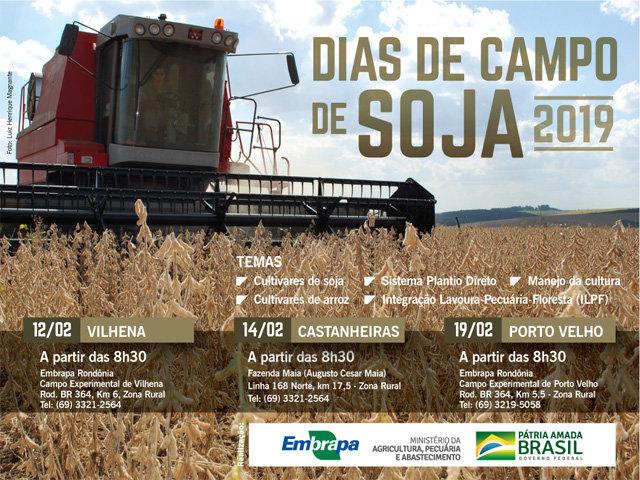 Embrapa realiza Dia de Campo de Soja em Porto Velho dia 19 de fevereiro - Gente de Opinião