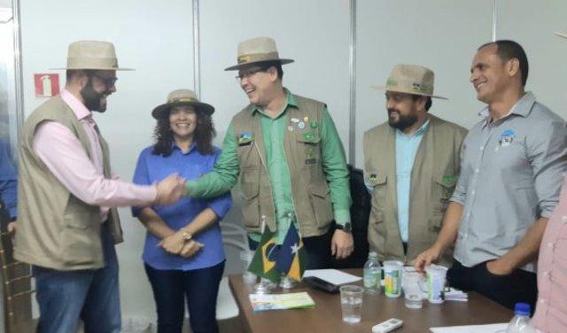 Governador Marcos Rocha e o secretário nacional de Aquicultura e Pesca Jorge Seif Júnior acreditam no avanço da produção de peixe - Gente de Opinião
