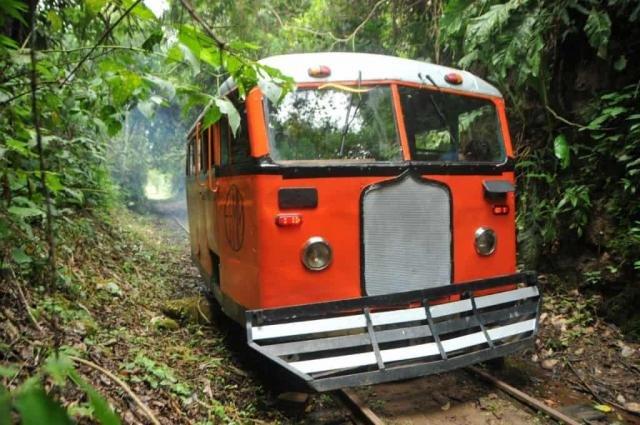 O passeio de litorina vai custar R$ 5 em um trecho de 2,3 km (Foto Condecom/PMPV) - Gente de Opinião