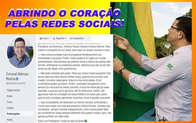 """Marcos Rocha desabafa, critica conta de energia e ameaça corruptos com """"voadora no pescoço"""" - Gente de Opinião"""