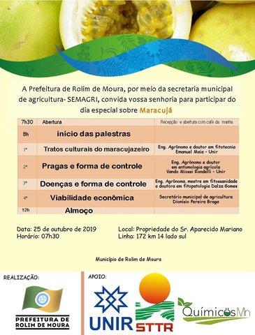 Prefeitura de Rolim de Moura realizará Dia Especial sobre o cultivo do Maracujá  - Gente de Opinião