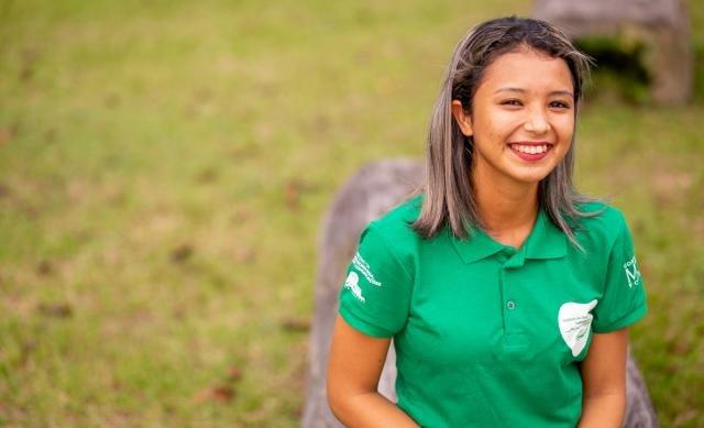 Geice é filha de agricultores da comunidade (Foto Everson Tavares) - Gente de Opinião
