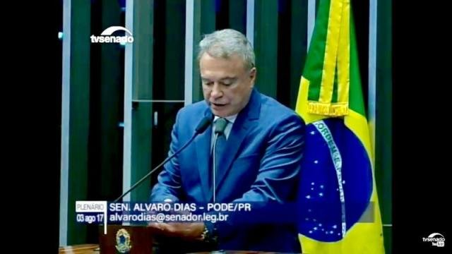 Senador Alvaro Dias - Ex- Governador do Paraná e Candidato a Presidencia do Brasil nas eleições de 2018 pelo PODEMOS - Gente de Opinião