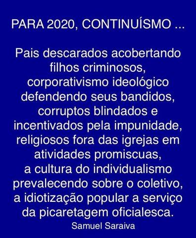 Mensagem para 2020 - Gente de Opinião