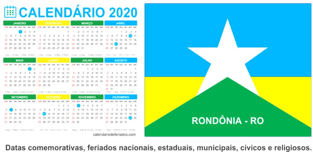 Saiba quais são os feriados e pontos facultativos de 2020 em municípios de Rondônia - Gente de Opinião