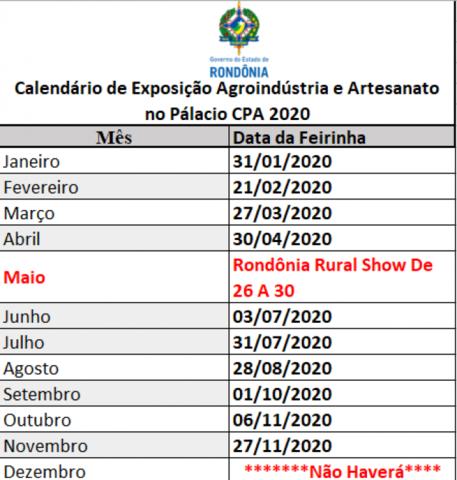 Exposição de produtos da agricultura familiar ganha calendário fixo no Palácio Rio Madeira, em Porto Velho - Gente de Opinião