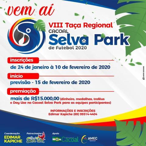 Taça Cacoal Selva Park de Futebol tem inscrições abertas até o dia 10 - Gente de Opinião