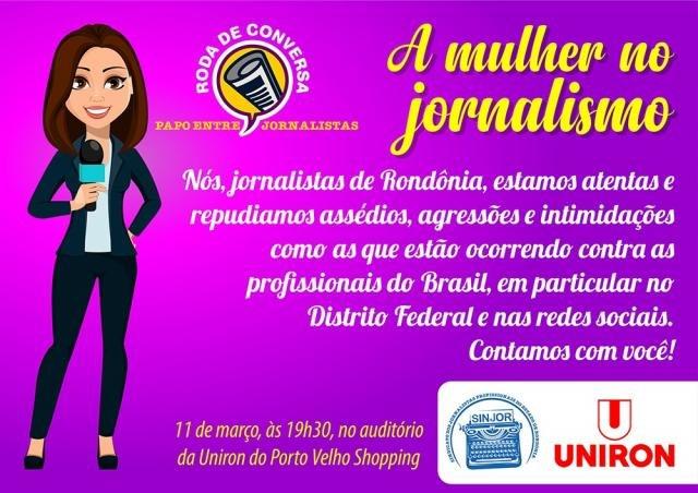 """Sinjor promove, nesta quarta, 11,  Roda de Conversa """"A Mulher no Jornalismo"""" - Gente de Opinião"""