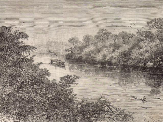 O Canuman navegando o rio Iça (Putumayo) em 1879.  - Gente de Opinião