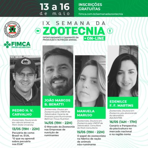 Curso de Zootecnia da FIMCA promove Webinário com palestras - Gente de Opinião
