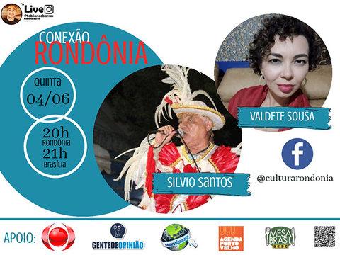 Silvio Santos (Zekatraca) e a artista de teatro Valdete Sousa no CONEXÃO RONDÔNIA