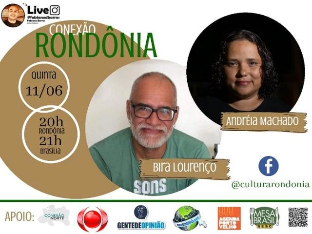 O músico Bira Lourenço e a documentarista Andréia Machado no Conexão Rondônia de hoje (11/06), quinta-feira. - Gente de Opinião