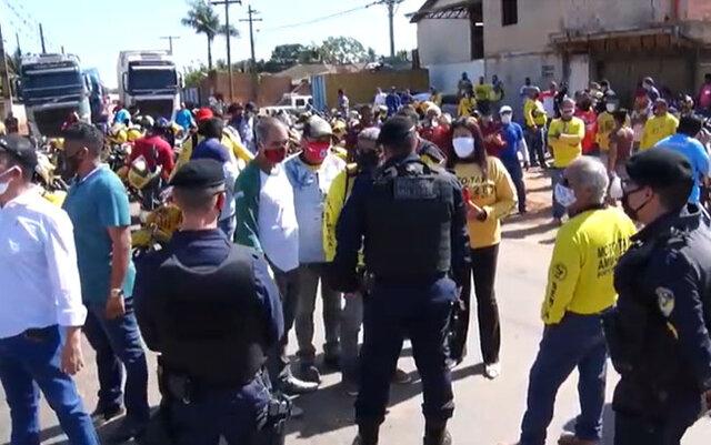 Porto Velho: mototaxistas fazem protesto na estrada do Belmonte - Gente de Opinião