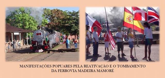 EM 1995 - Especialmente para TV Alemã,  ESSES SENHORES HEROIS, FERROVIARIOS, PESSOAS SIMPLES DO POVO, tiveram uma nobre missão, tivemos a honra de ter   participado desse momento de resgate das raízes desta terra, Rondônia, tiveram de volta a ferrovia Madeira Mamoré. A Associação de Amigos da Madeira Mamoré - AMMA em respeito a esses heróis, não estão mais aqui, que enfrenta barreiras quase intransponíveis, ao pedir para cumprir a Lei, a constituição de Rondônia, fere interesses de grupos GANGSTER, MAFIOSOS, que aparelharam as instituições honradas, de meio ambiente... e?... - Gente de Opinião