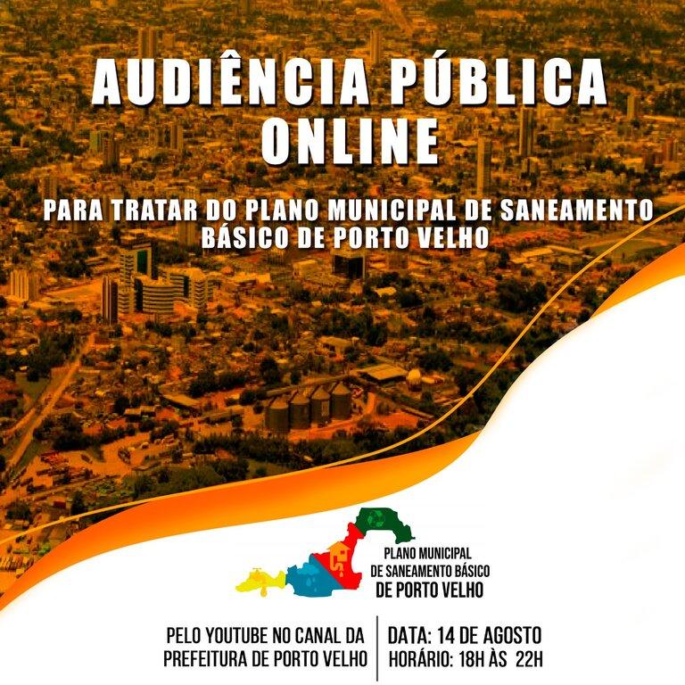 Plano Municipal de Saneamento Básico de Porto Velho será debatido na próxima sexta-feira - Gente de Opinião