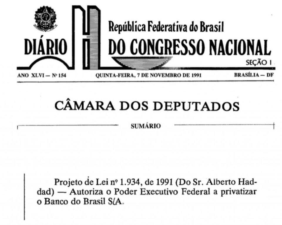 Dropes da história: privatização do Banco do Brasil - Gente de Opinião
