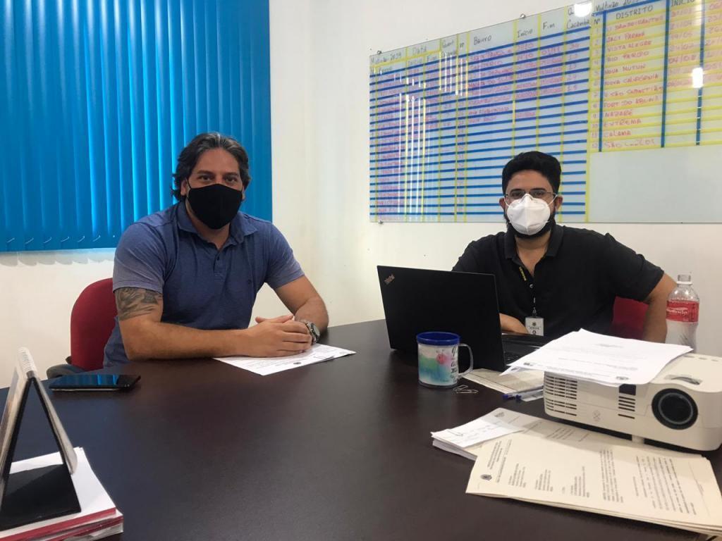 Vereador Waldemar Neto e o secretário da SEMISB, Diego Andrade Lage - Gente de Opinião