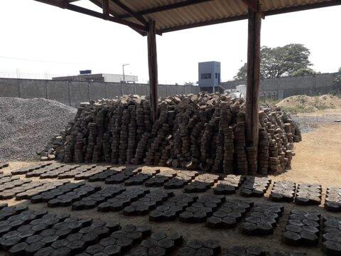 Produção de concreto na Casa de Detenção de Ouro Preto do Oeste passa de três mil bloquetes por dia