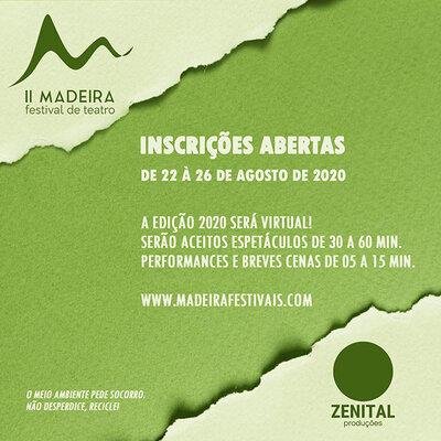 II Madeira Festival de teatro está com inscrições abertas