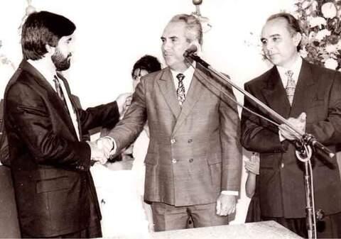 Governador Valdir Raupp de Matos, o Dr. Aldo Alberto Castanheira, e o médico Aparício Carvalho de Moraes.