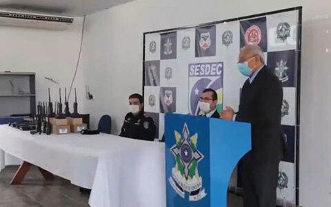 Governo de Rondônia entrega equipamentos para a policia no sul do Estado