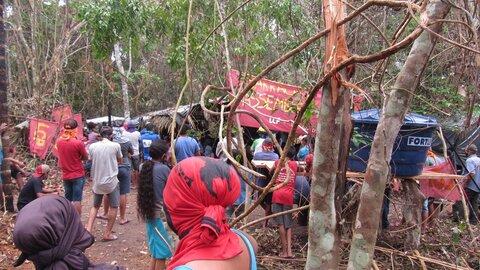 Camponeses que tomaram a última faixa de terras em fazenda de Chupinguaia celebram um mês do Acampamento Manoel Ribeiro