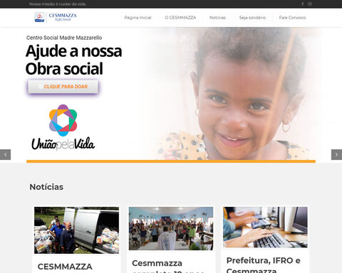 CESMMAZZA lança site e reforça compromisso social com as pessoas mais carentes