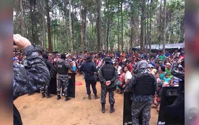 PM retira centenas de pessoas de área invadida - Gente de Opinião