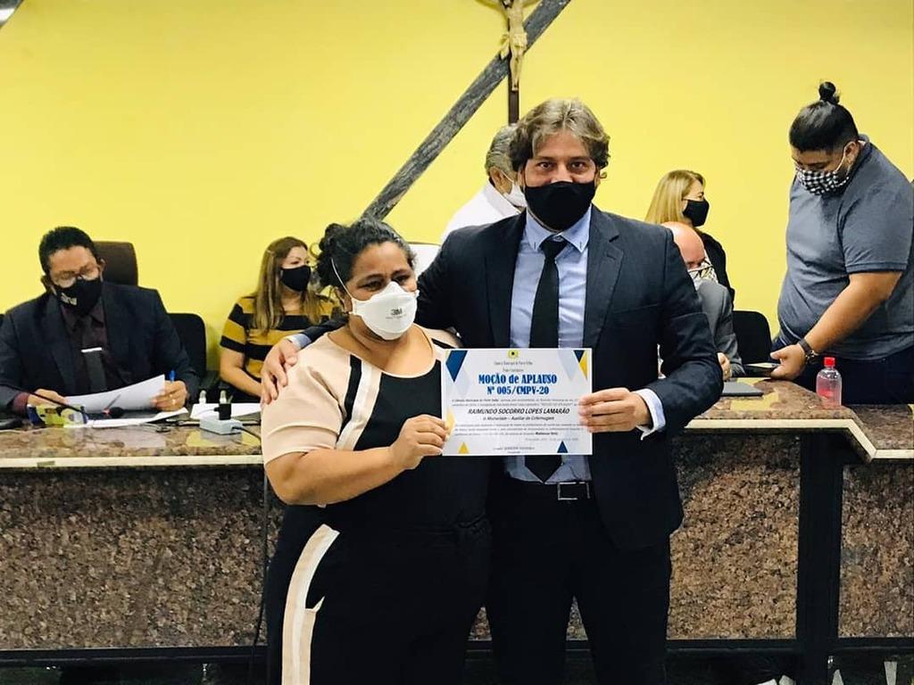 A pedido do vereador Waldemar Neto profissionais de saúde são homenageados pela Câmara dos Vereadores de Porto Velho - Gente de Opinião