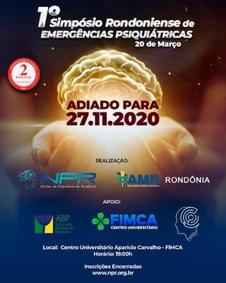 1° Simpósio Rondoniense de Emergências Psiquiátricas é adiado para 27/11