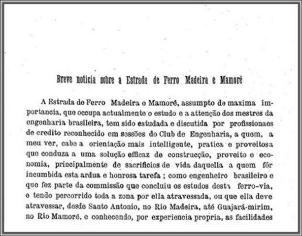 A Terceira Margem – Parte XCIV - Madeira-Mamoré ‒ Ferrovia do Diabo ‒ XV - Gente de Opinião