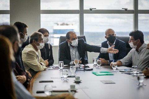 Presidente Laerte Gomes articula reunião com representantes da agroindústria de Rondônia, Idaron e Sefin