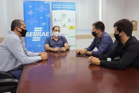 Prefeito reeleito Celso Lang se reúne com diretoria do Sebrae em Rondônia