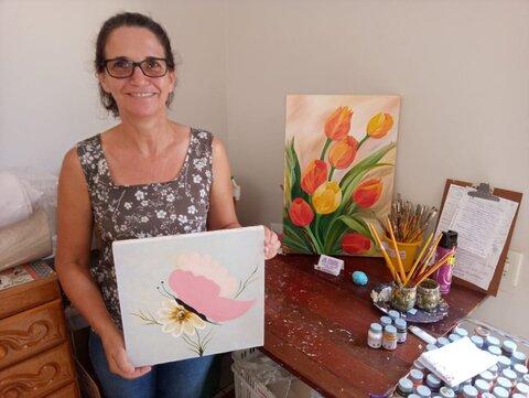 Agricultora e artesã expõe no Centro de Informações Turísticas de Rolim de Moura